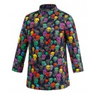 EGOCHEF Damen-Kochjacke COLOR SKULLS WOMAN