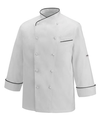 EGOCHEF Kochjacke GERARD PIPING BLACK GOLD LINE