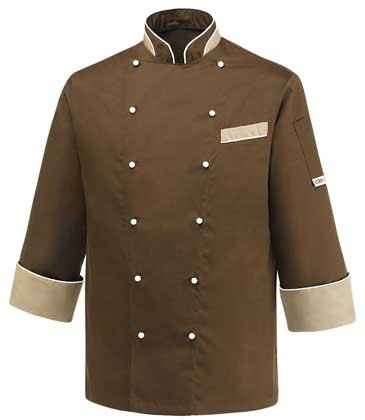 EGOCHEF Kochjacke HEAT BROWN