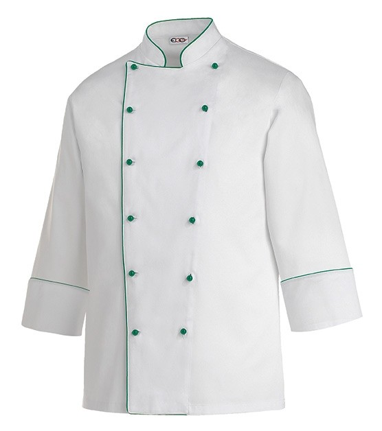 EGOCHEF Kochjacke PIPING GREEN