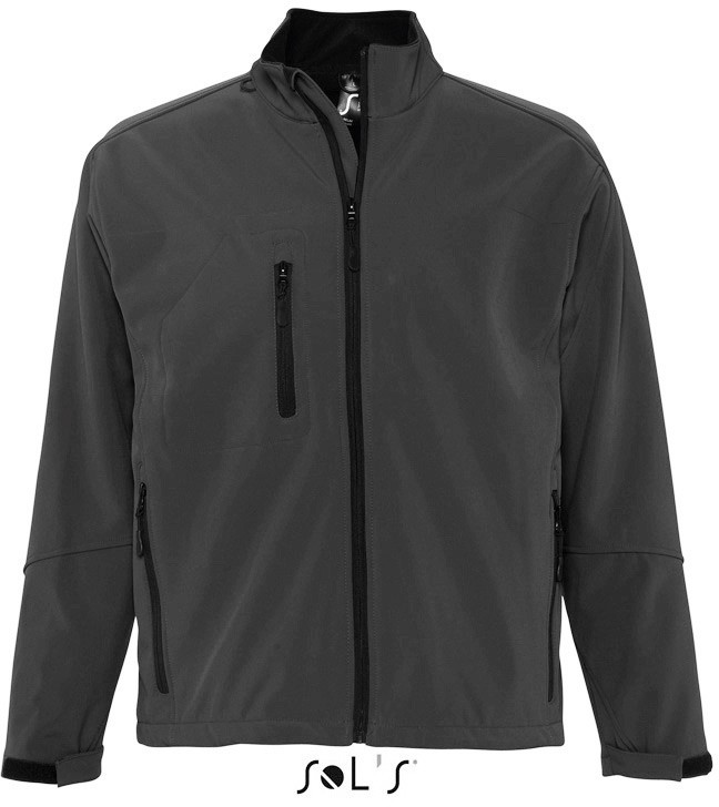 Men´s Softshell-Jacket RELAX CHARCOAL