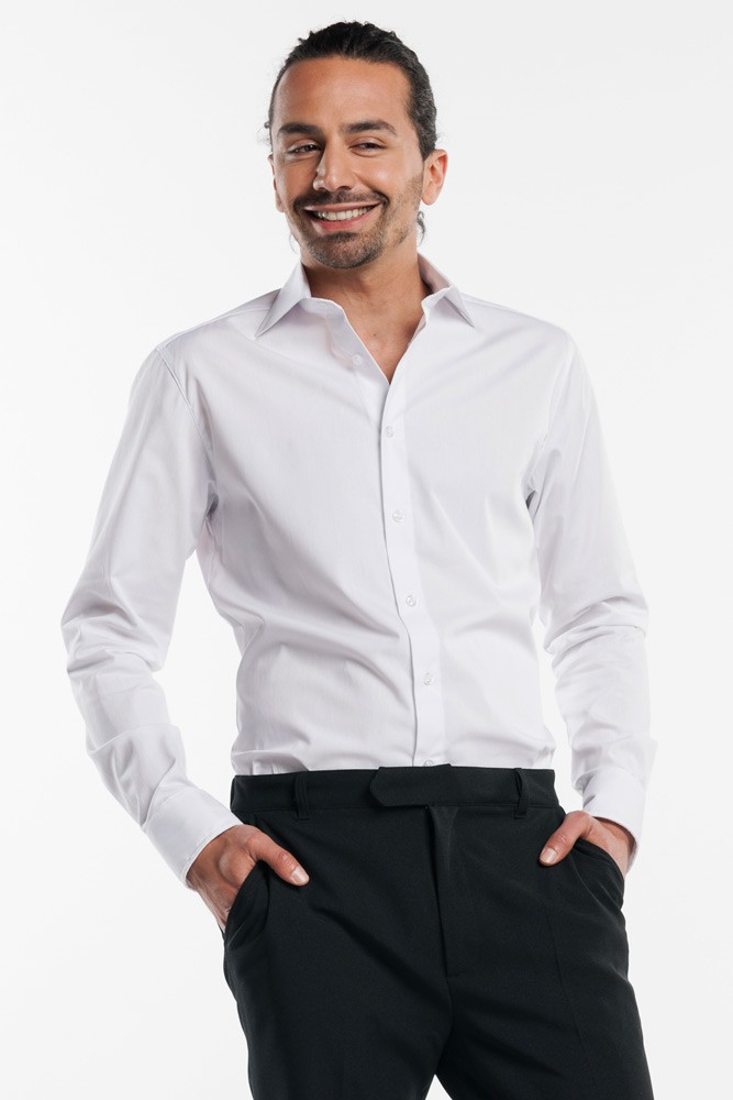 CHAUD DEVANT Hemd MEN WHITE STRETCH