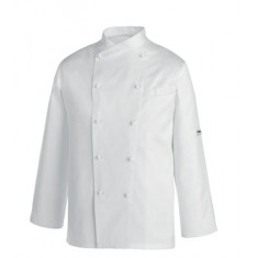 EGOCHEF Kochjacke GERARD PIPING WHITE GOLD LINE