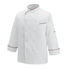 EGOCHEF Kochjacke GERARD PIPING BORDEAUX GOLD LINE