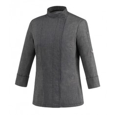 EGOCHEF Damen-Kochjacke WOMAN GREY MIX