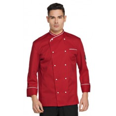 GIBLOR'S CHEF STYLE Kochjacke MASSIMO rot/weiss