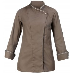 GIBLOR'S CHEF STYLE Damen-Kochjacke STEFANIA TAUPE