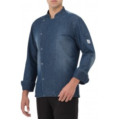 GIBLOR'S CHEF STYLE Kochjacke CRISTIAN BLUE JEANS