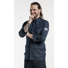 CHAUD DEVANT KOCHPARKA BLUE DENIM STRETCH