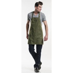 CHAUD DEVANT Latzschürze BASE GREEN DENIM