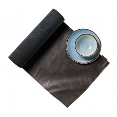 CHAUD DEVANT Table-Runner LEDER MOONSHINE BLACK
