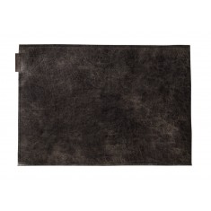 CHAUD DEVANT Placemat LEDER MOONSHINE BLACK 2er-Pack